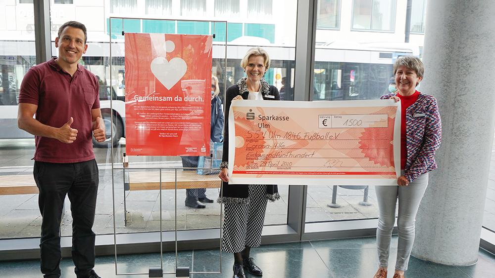 """Sparkassen-Spendenaktion """"#Gemeinsamallemgewachsen"""" unterstützt den SSV Ulm 1846 Fußball"""
