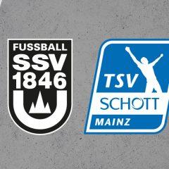 Wieder auf Kunstrasen gegen Schott Mainz